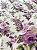 Tecido Tricoline flores bege lilás - Imagem 2