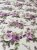 Tecido Tricoline flores bege lilás - Imagem 3