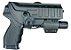 Coldre Universal para Pistolas com Lanterna/Mira laser Só Coldres - Imagem 1