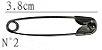 Alfinetes De Segurança N° 2 - 3,8 cm - C/ 100 Unidades - Imagem 2