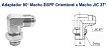 """ADAPAPTADOR 90º ORIENTÁVEL Macho BSP x Macho JIC37º 1""""-11x1.5/16""""-12-LMBOMJ1616 - Imagem 1"""