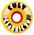 Roda Cult Wheels Classic 70mm 80A - Amarela 2016 - Imagem 1