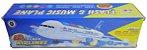 Avião Miniatura Airplanes Brinquedo Anda E Acende Luzes A380 - Imagem 5
