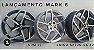 JOGO DE RODA MARK 8 ARO 18 4X100 TALA 6 PRETA DIAMANTADA - Imagem 2