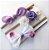 Kit com faixinhas de cabelo - Purple - Imagem 1