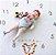Tapete com números para fotos mensais - Relógio 100x100cm - Imagem 2
