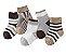 Kit com 5 pares de meias para bebê  - Neutras - Imagem 1