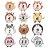 Kit de adesivos para mêsversário - Animals - Imagem 2