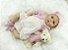 Boneca Realista Bebê Reborn 47 cm com Ursinho - Imagem 3