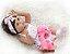 Boneca Realista Bebê Reborn 47 cm com Vestido e Faixa - Imagem 6