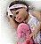 Boneca Realista Bebê Reborn 47 cm com Vestido e Faixa - Imagem 7