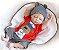 Boneco Realista Bebê Reborn Menino 47 cm com Gorro - Imagem 4