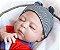Boneco Realista Bebê Reborn Menino 47 cm com Gorro - Imagem 2