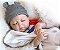 Boneco Realista Bebê Reborn Menino 47 cm com Gorro - Imagem 3