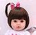 Boneca Realista Bebê Reborn 47 cm com Capa de Pelúcia - Imagem 3