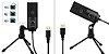 Microfone Condensador Fifine K669 USB Preto - Imagem 3
