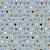 TECIDO 100% ALGODÃO FABRICART COLEÇÃO FALLING IN LOVE - MINI BLUE TULIPS - PREÇO DE 0,50 x 1,50 - Imagem 1