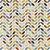 TECIDO 100% ALGODÃO FABRICART COLEÇÃO FALLING IN LOVE - WHITE GEOMETRIC PETALS - PREÇO DE 0,50 x 1,50 - Imagem 1