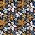 TECIDO 100% ALGODÃO FABRICART COLEÇÃO FALLING IN LOVE -  BIG FALL FLOWERS IN BLUE - PREÇO DE 0,50 x 1,50 - Imagem 1