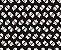 TECIDO 100% ALGODÃO- CIRCULO- CAVEIRAS E OSSOS- PREÇO DE 0.50 x 1,50 - Imagem 1