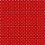 TECIDO 100% ALGODÃO- MINI POÁ BRANCO FUNDO VERMELHO - PREÇO DE 0.50 x 1,50 - Imagem 1