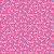 TECIDO 100% ALGODÃO PERIPAN - FLORZINHA ROSA COM FUNDO PINK- PREÇO DE 0.50 x 1,50 - Imagem 1