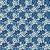 TECIDO 100% ALGODÃO PERIPAN - FLORAL TONS DE AZUL ESCURO - PREÇO DE 0.50 x 1,50 - Imagem 1
