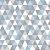 TECIDO 100% ALGODÃO PERIPAN - GEOMÉTRICOS TONS DE CINZA E AZUL- PREÇO DE 0.50 x 1,50 - Imagem 1