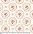 Tecido Tricoline Medallion Vanilla (Fundo Creme) - Coleção So Spring By Anita Catita - Preço de 50 cm x 150cm - Imagem 2