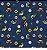 Tecido Estampa Trânsito, Carros e Placas - Fundo Azul Marinho - Preço de 50 cm x 150 cm - Imagem 1