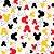Tecido Tricoline Silhueta do Mickey Mouse - Coleção Disney - Fundo Preto - Preço de 50 cm x 150 cm - Imagem 1