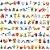 Kit com 72 mini figuras Pokémon 3 cm - Animes Geek - Imagem 1