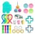 Kit com 25 peças Push Pop Bubble Sensory Fidget Toy Anti Stress - Alta qualidade  - Imagem 1