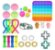 Kit com 25 peças Push Pop Bubble Sensory Fidget Toy Anti Stress I - Alta qualidade  - Imagem 1