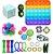 Kit com 22 peças Push Pop Bubble Sensory Fidget Toy Anti Stress  - Alta qualidade  - Imagem 1