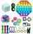 Kit com 22 peças Push Pop Bubble Sensory Fidget Toy Anti Stress III  - Alta qualidade  - Imagem 1