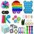 Kit com 30 peças Push Pop Bubble Sensory Fidget Toy Anti Stress I - Alta qualidade  - Imagem 1