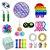 Kit com 23 peças Push Pop Bubble Sensory Fidget Toy Anti Stress I - Alta qualidade  - Imagem 1