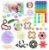 Kit com 24 peças Push Pop Bubble Sensory Fidget Toy Anti Stress I - Alta qualidade  - Imagem 1