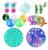 Kit com 17 peças Push Pop Bubble Sensory Fidget Toy Anti Stress  - Alta qualidade  - Imagem 1