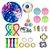 Kit com 27 peças Push Pop Bubble Sensory Fidget Toy Anti Stress I - Alta qualidade  - Imagem 1