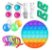 Kit com 19 peças Push Pop Bubble Sensory Fidget Toy Anti Stress  - Alta qualidade  - Imagem 1
