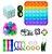 Kit com 20 peças Push Pop Bubble Sensory Fidget Toy Anti Stress I - Alta qualidade  - Imagem 1