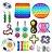 Kit com 24 peças Push Pop Bubble Sensory Fidget Toy Anti Stress II - Alta qualidade  - Imagem 1