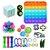 Kit com 22 peças Push Pop Bubble Sensory Fidget Toy Anti Stress V - Alta qualidade  - Imagem 1