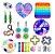 Kit com 20 peças Push Pop Bubble Sensory Fidget Toy Anti Stress III - Alta qualidade  - Imagem 1