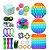Kit com 23 peças Push Pop Bubble Sensory Fidget Toy Anti Stress II - Alta qualidade  - Imagem 1