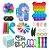 Kit com 30 peças Push Pop Bubble Sensory Fidget Toy Anti Stress IV - Alta qualidade  - Imagem 1