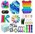 Kit com 30 peças Push Pop Bubble Sensory Fidget Toy Anti Stress V - Alta qualidade  - Imagem 1