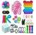 Kit com 30 peças Push Pop Bubble Sensory Fidget Toy Anti Stress VI - Alta qualidade  - Imagem 1